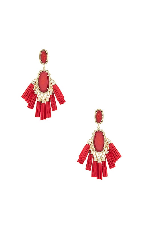 Kendra Scott Kristen Earrings in Red
