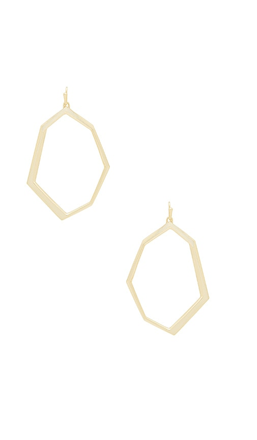 Kendra Scott Lindsey Earrings in Metallic Gold