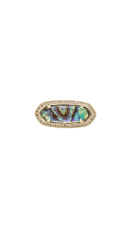 Kendra Scott Arielle Ring in Gold & Abalone