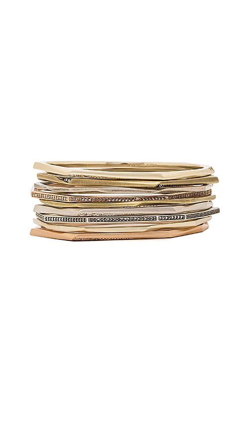 Kendra Scott Aubrey Set Of 9 Bracelet in Metallic Gold