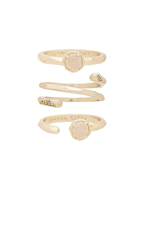 Kendra Scott Warren Ring in Iridescent Drusy & White CZ