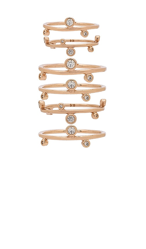 Kendra Scott Alistar Stacked Ring Set in Metallic Copper