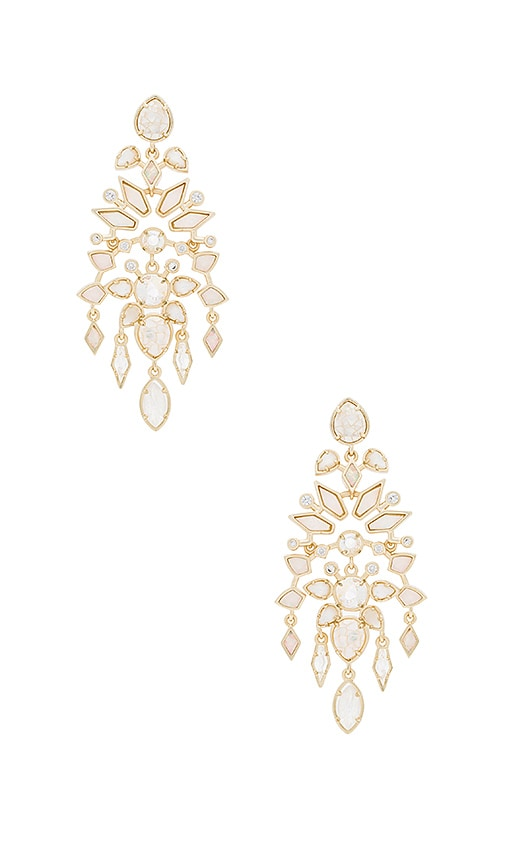 Kendra Scott Aryssa Chandelier Earring in Metallic Gold