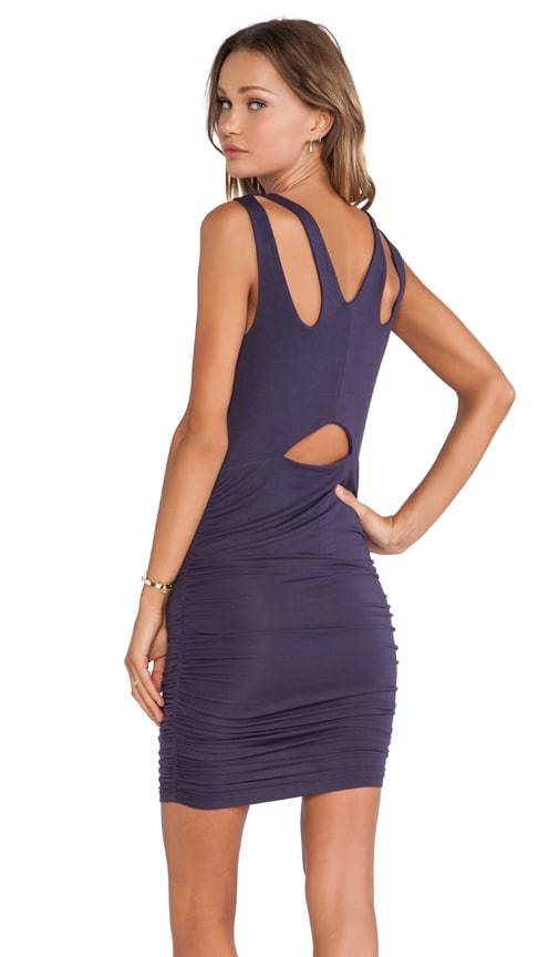 Ruched Cutout Back Dress