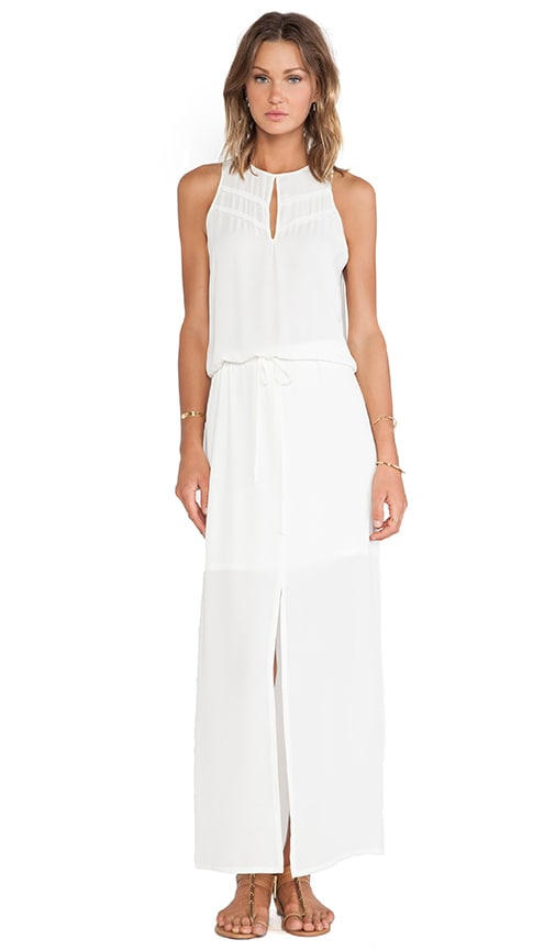 c236f1aa771 krisa Keyhole Maxi Dress in Ivory