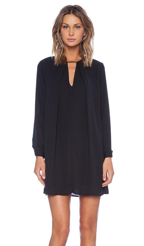 30953eff513 krisa Long Sleeve Swing Dress in Black