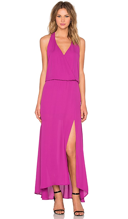 krisa Halter Maxi Dress in Fuchsia
