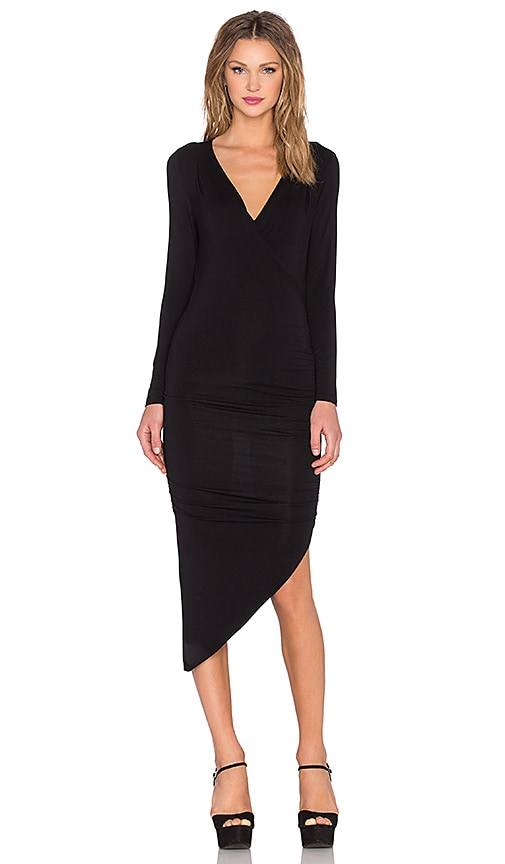 Asymmetrical Surplice Dress