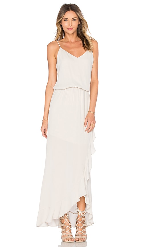 krisa Ruffle Maxi Dress in Gray