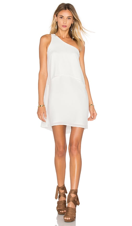 krisa One Shoulder Mini Dress in White