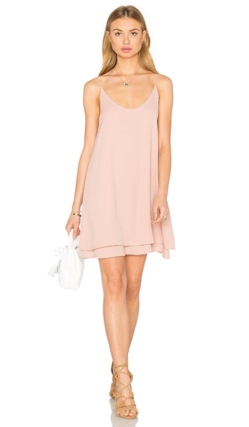 krisa Doubler Layer Cami Mini Dress in Blush
