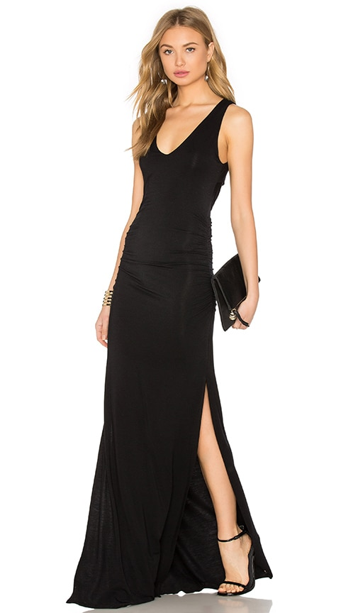 krisa Cutout Back Maxi Dress in Black