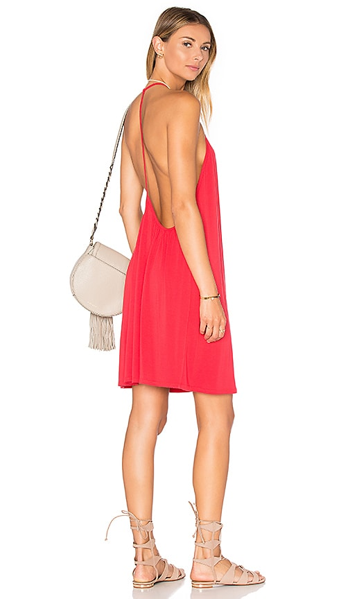 krisa Open Back Cami Dress in Red