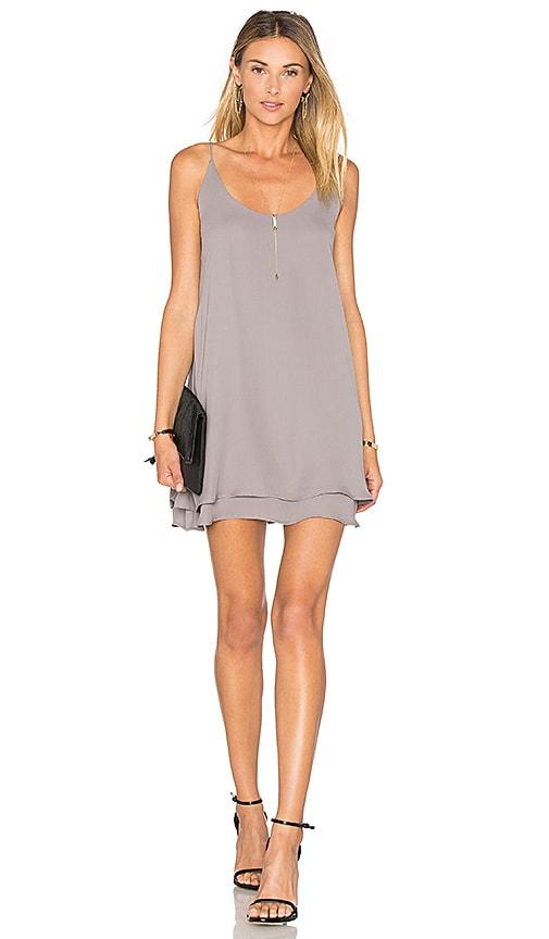 krisa Double Layer Cami Mini Dress in Gray