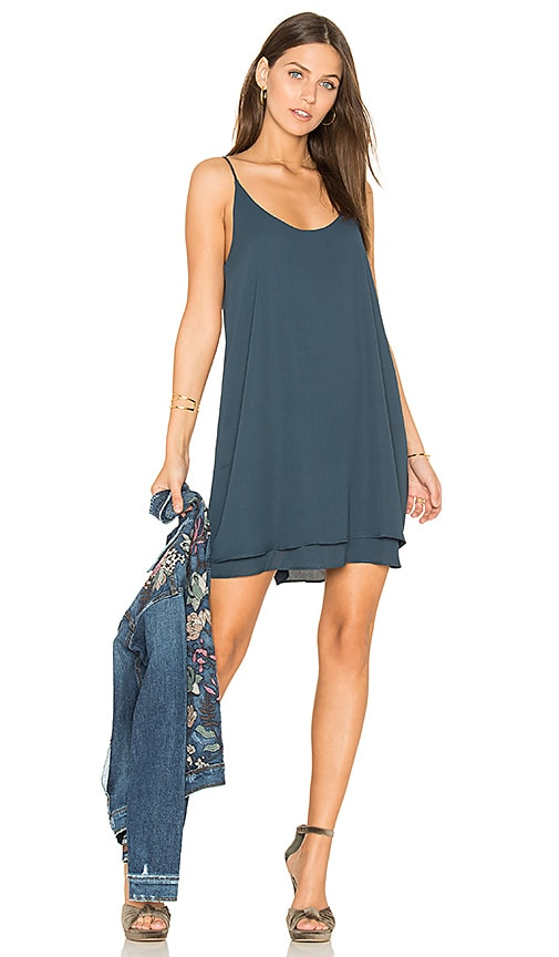 krisa Double Layer Cami Mini Dress in Blue