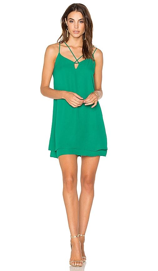 krisa Cross Strap Dress in Green