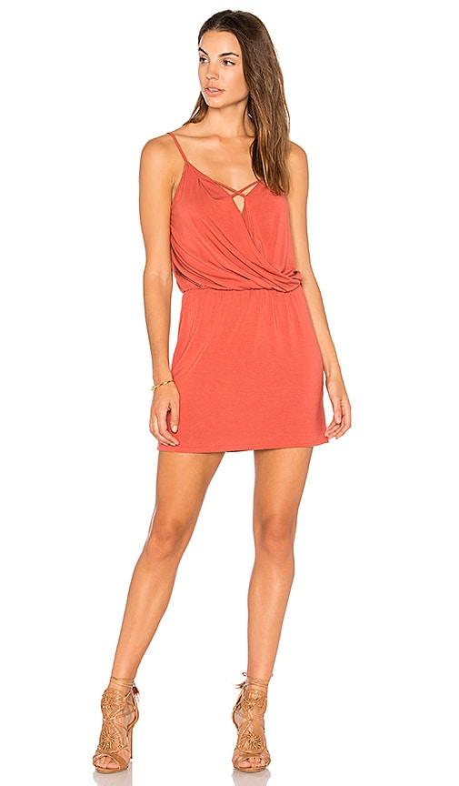 krisa X Front Mini Dress in Rose