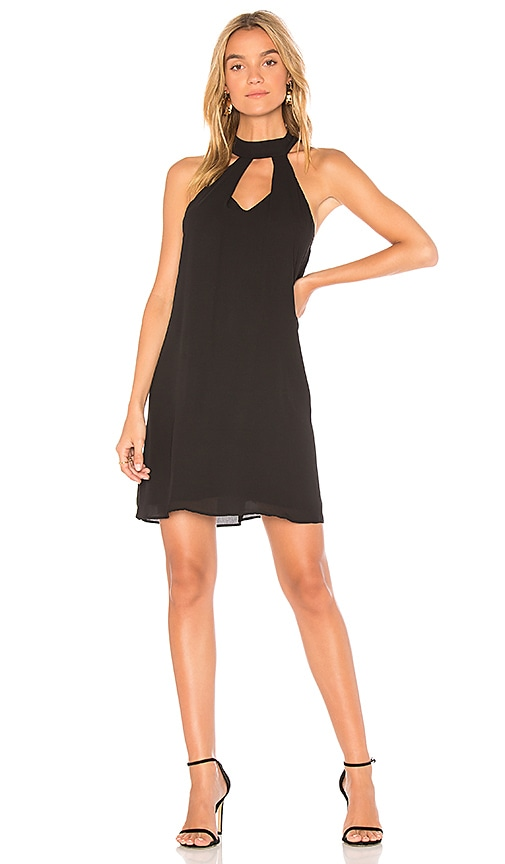 krisa Cutout Mini Dress in Black