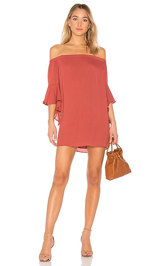 krisa Off Shoulder Dress in Red