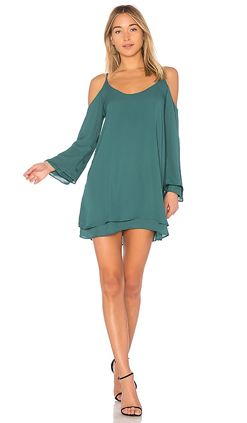 krisa Cold Shoulder Dress in Green