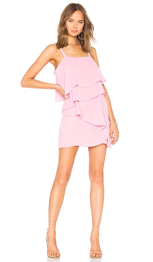 krisa Tiered Tank Mini Dress in Pink