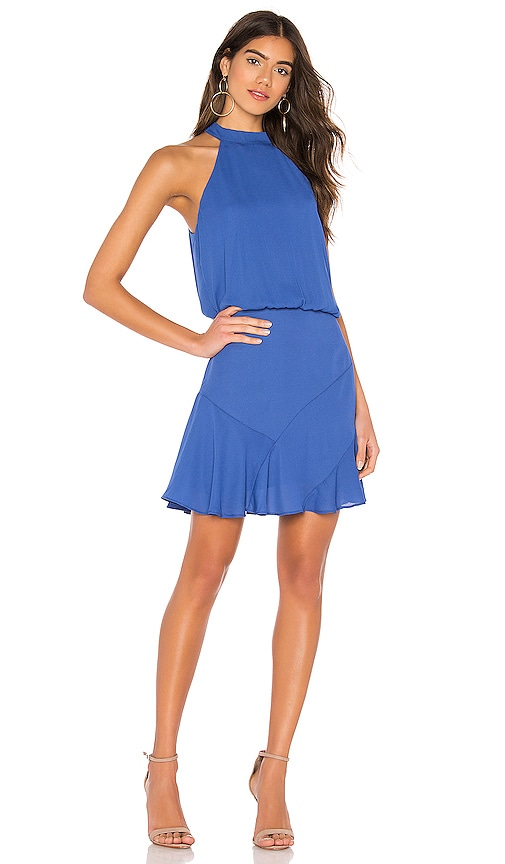Asymmetrical Flare Mini Halter Dress