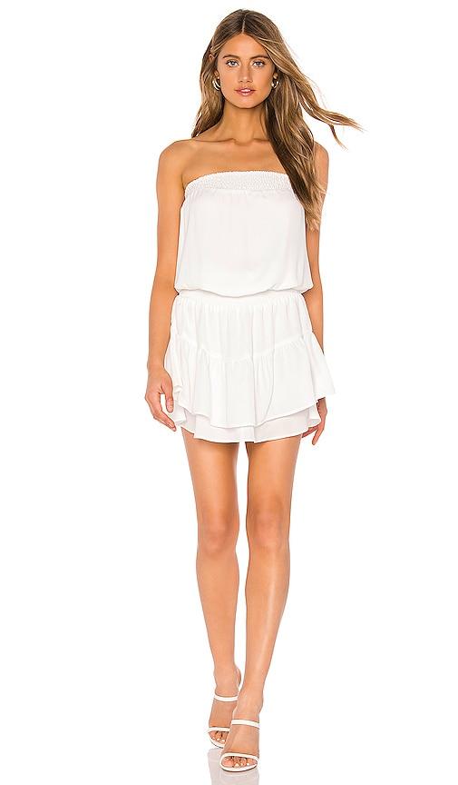 Smocked Strapless Mini Dress