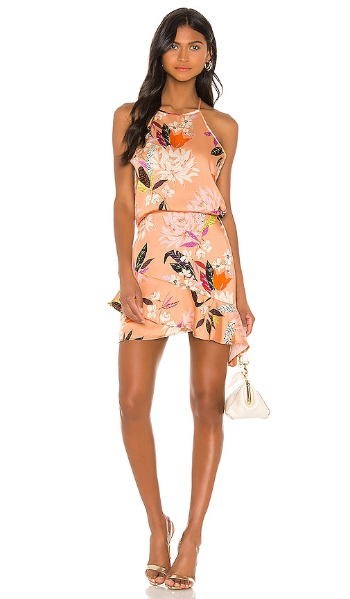 High Low Halter Mini Dress