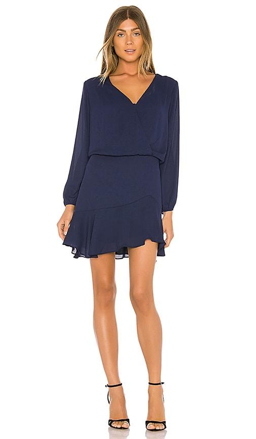 Long Sleeve Surplice Dress
