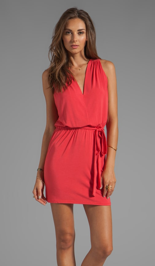 Reverse Surplice Back Mini Dress