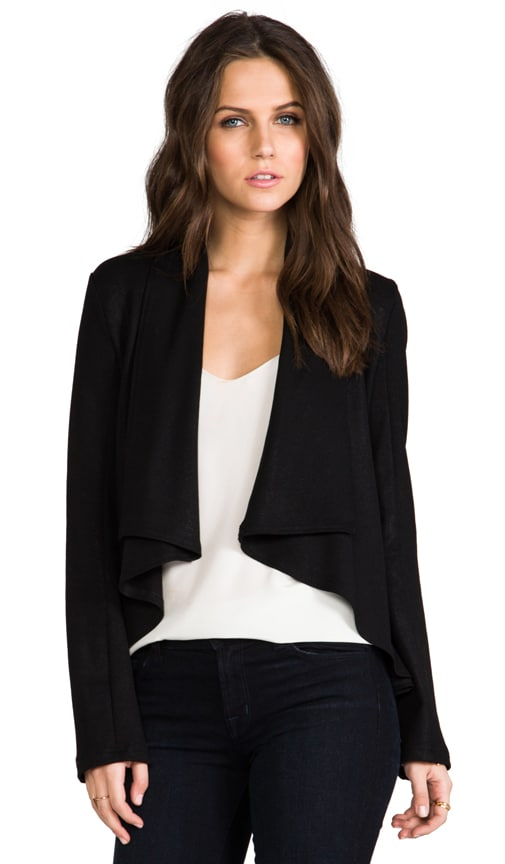 Coated Drape Blazer