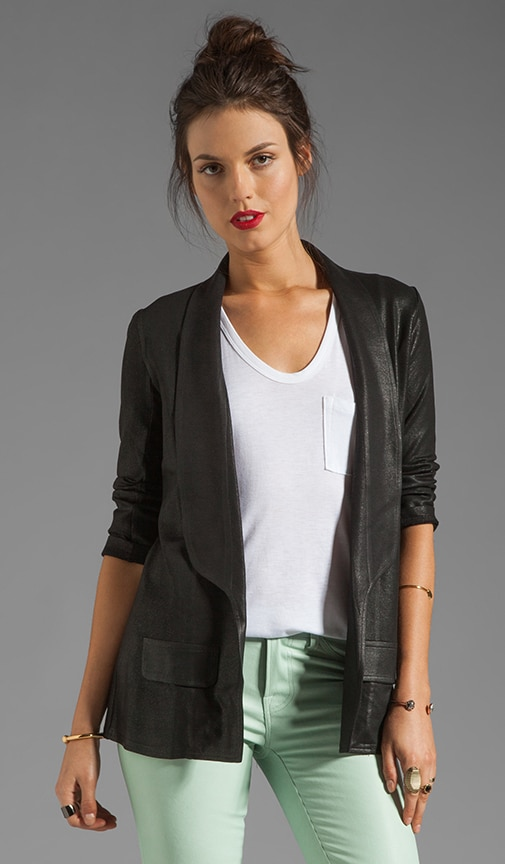 3/4 Sleeve Coated Blazer