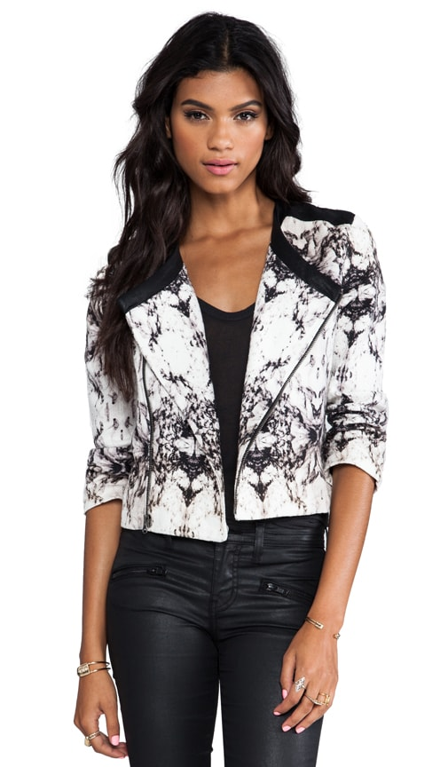 Printed Canvas Little Jacket