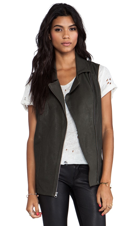 Coated Tunic Moto Vest