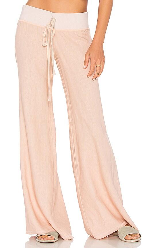 krisa Linen Wide Leg Pant in Pink