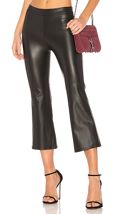 krisa Cropped Flare Pant in Black