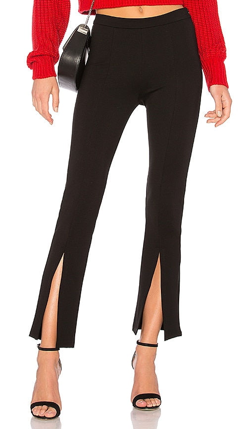 krisa Split Trouser in Black