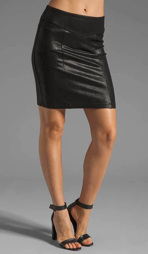 Coated Pencil Skirt