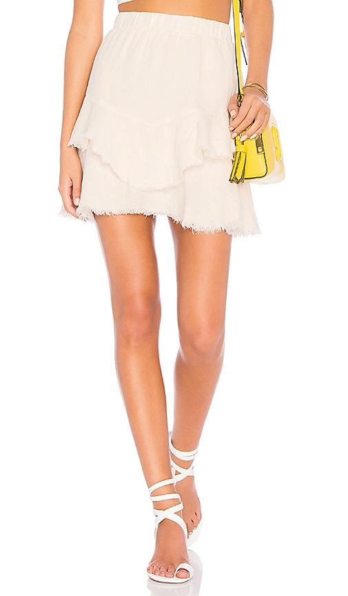 krisa Ruffle Mini Skirt in Cream