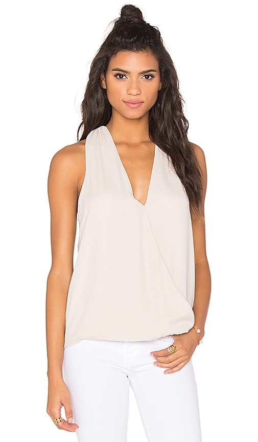krisa Surplice Tank in Bisque