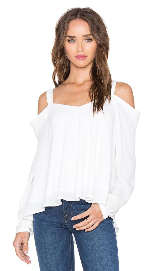 krisa Off Shoulder Blouse in White