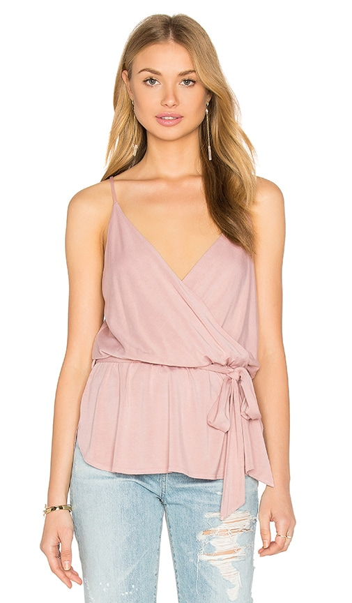 krisa Surplice Cami in Blush