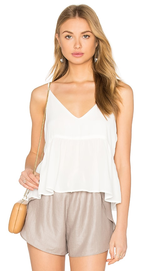 krisa Camisole Crop Top in White