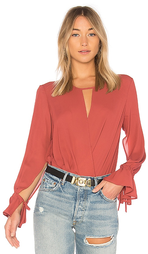 krisa Cutout Blouse in Red