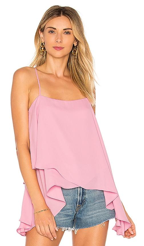 krisa High Low Cami Top in Pink