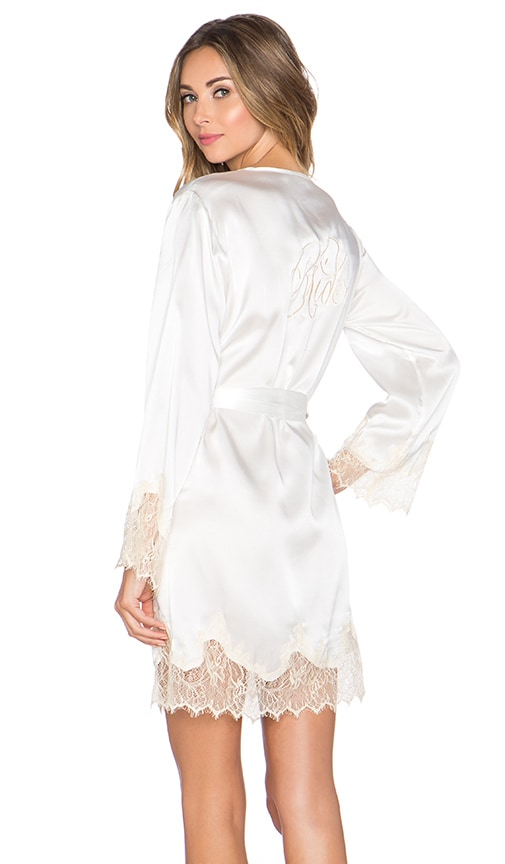 Lucy Silk Bride Robe