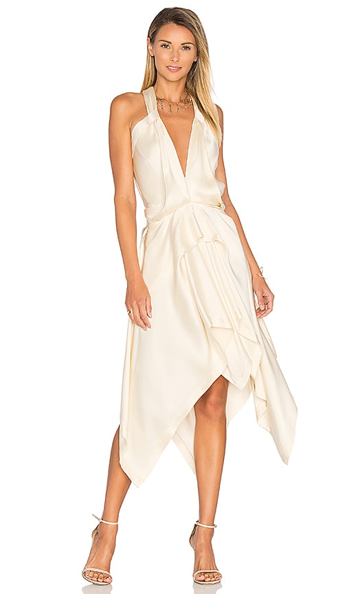 KITX Fluid Drape Dress in Cream