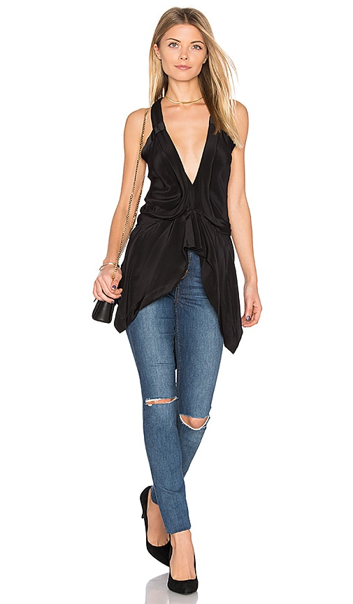 KITX Fluid Drape Top in Black