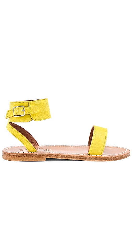 K Jacques Saratoga Sandal in Yellow