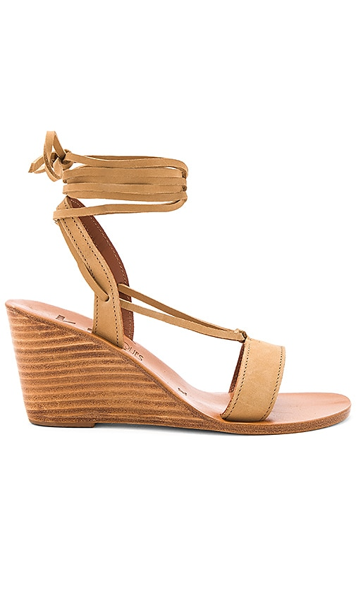 K Jacques Santiago Wedge in Tan